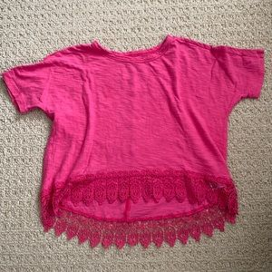 Old Navy girls high low T-shirt size S (6-7)